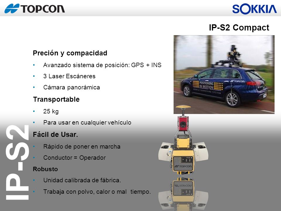 IP-S2 Compact Preción y compacidad Transportable Fácil de Usar.