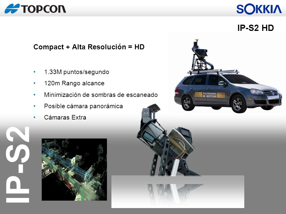 IP-S2 HD Compact + Alta Resolución = HD 1.33M puntos/segundo