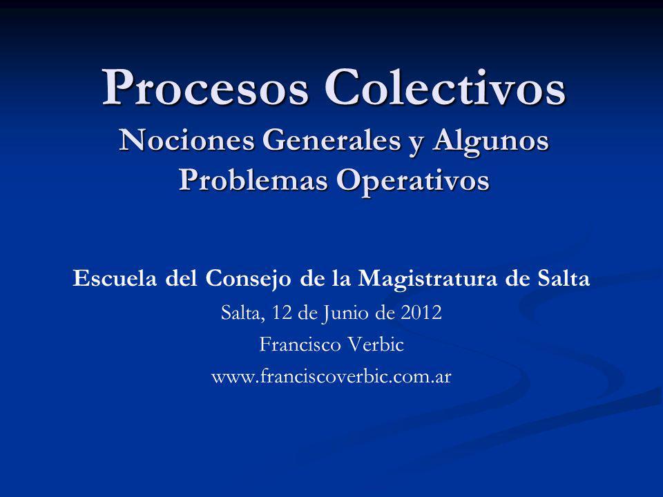 Procesos Colectivos Nociones Generales y Algunos Problemas Operativos