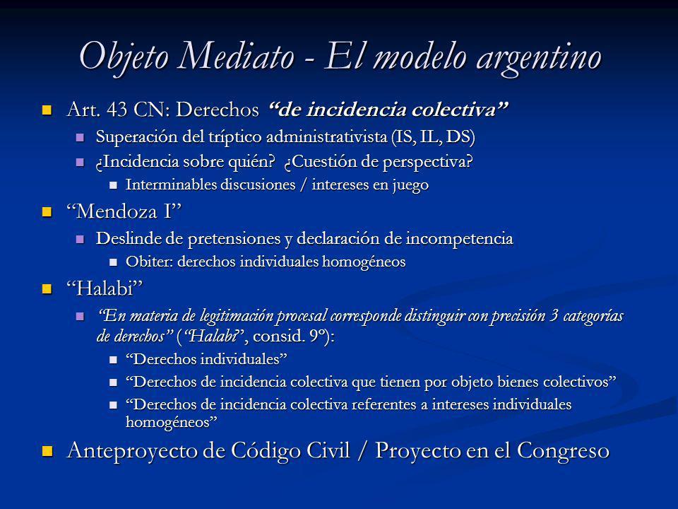 Objeto Mediato - El modelo argentino