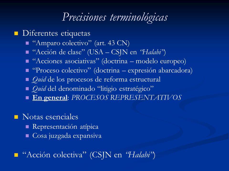 Precisiones terminológicas