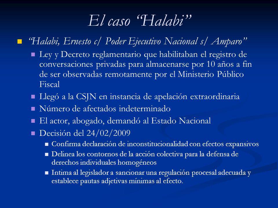 El caso Halabi Halabi, Ernesto c/ Poder Ejecutivo Nacional s/ Amparo