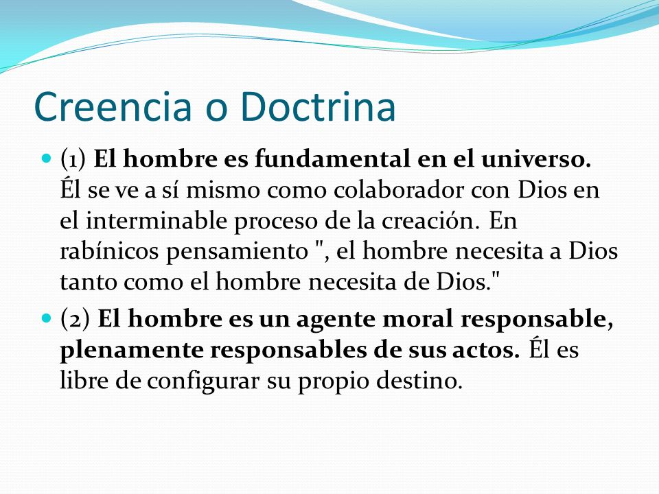 Creencia o Doctrina