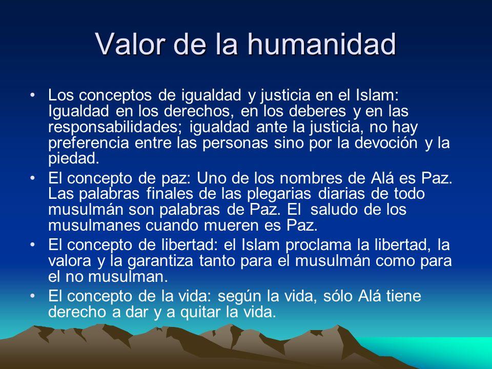 Valor de la humanidad