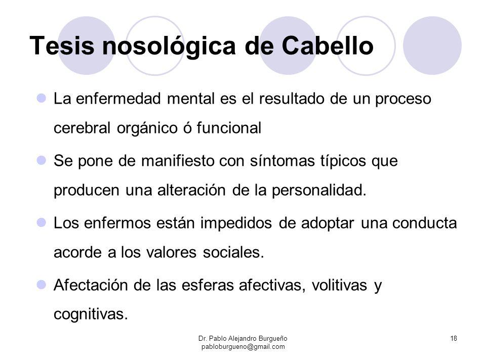 Tesis nosológica de Cabello