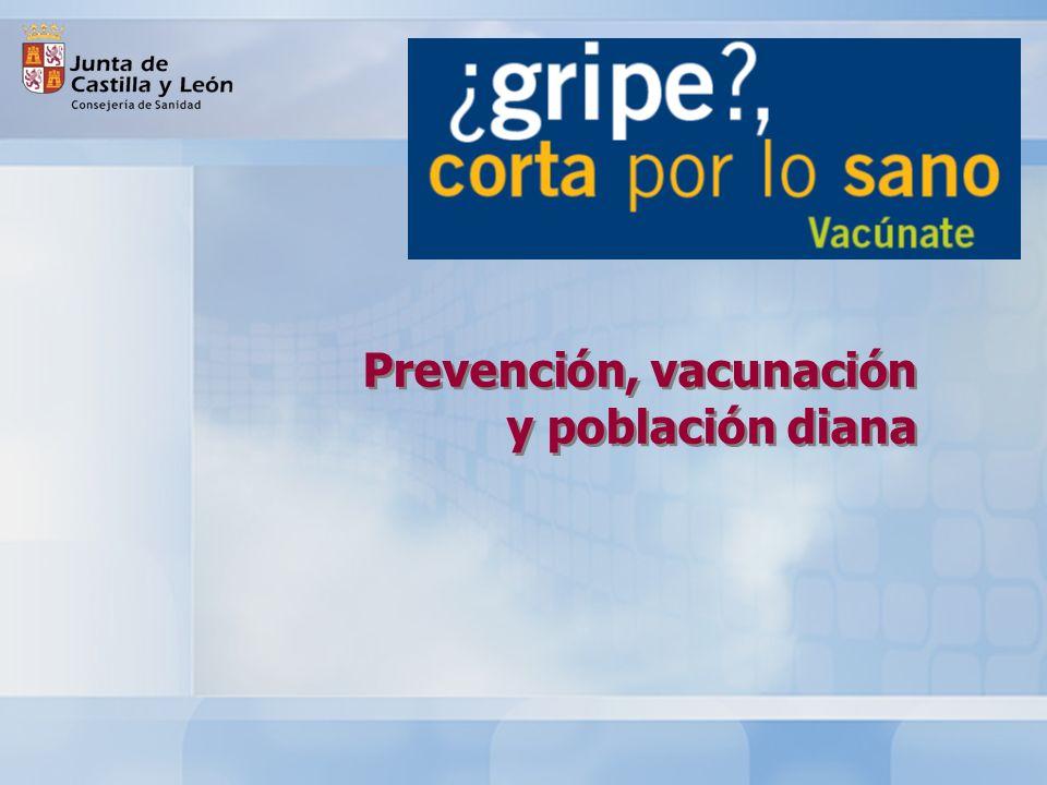 Prevención, vacunación y población diana