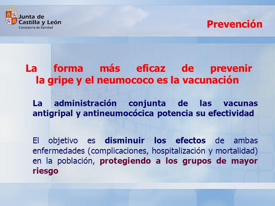 Prevención La forma más eficaz de prevenir la gripe y el neumococo es la vacunación.