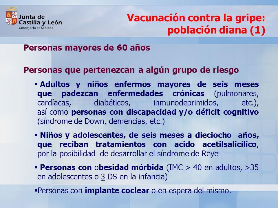 Vacunación contra la gripe: población diana (1)