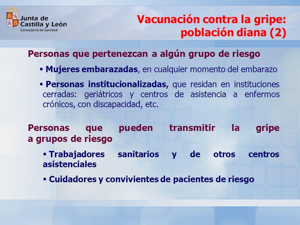 Vacunación contra la gripe: población diana (2)
