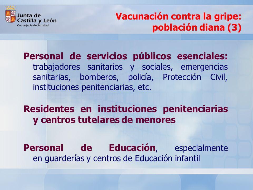 Vacunación contra la gripe: población diana (3)