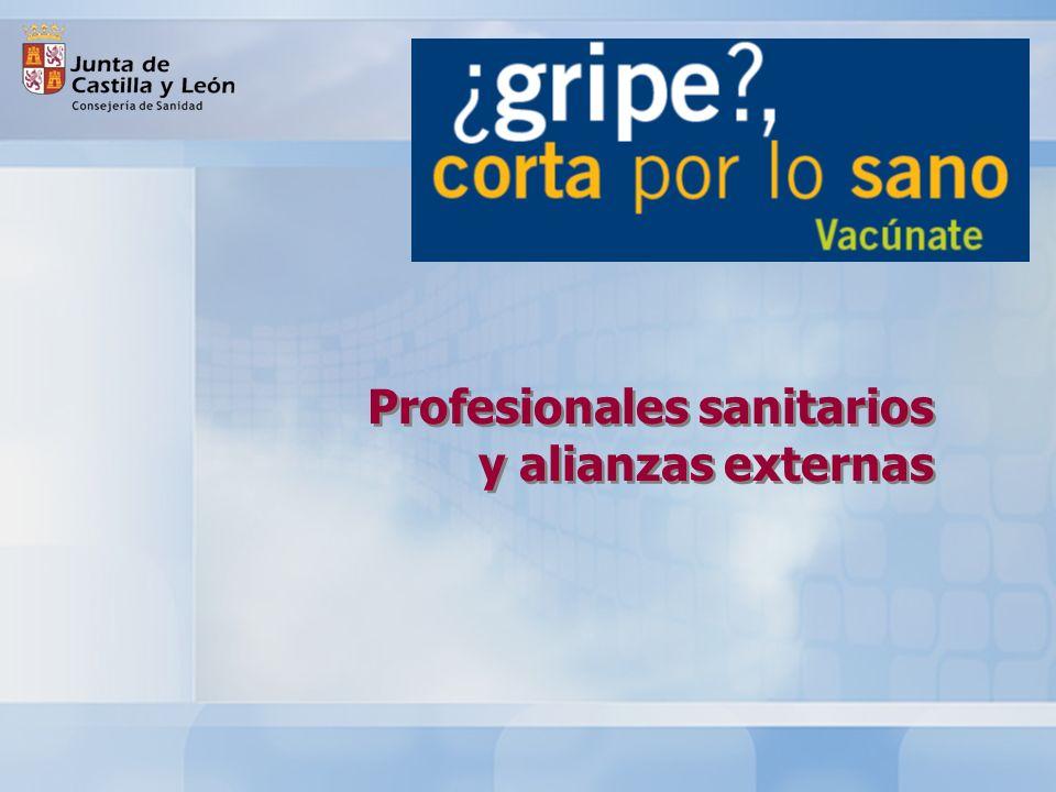 Profesionales sanitarios y alianzas externas