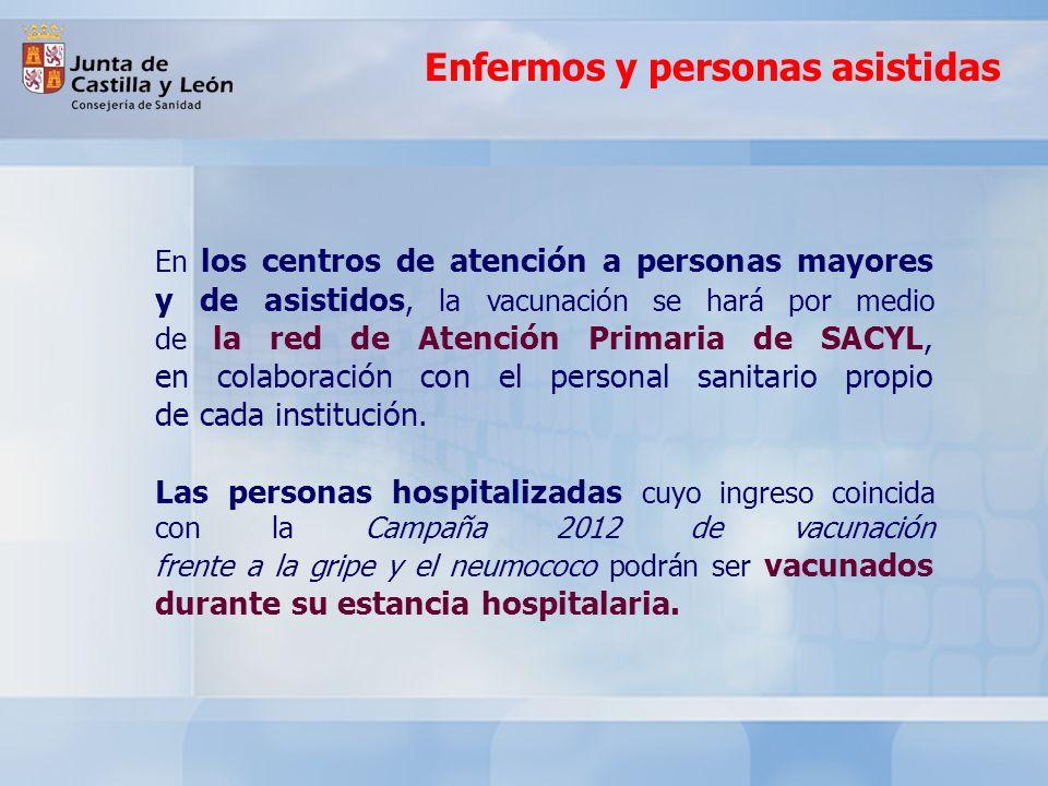 Enfermos y personas asistidas