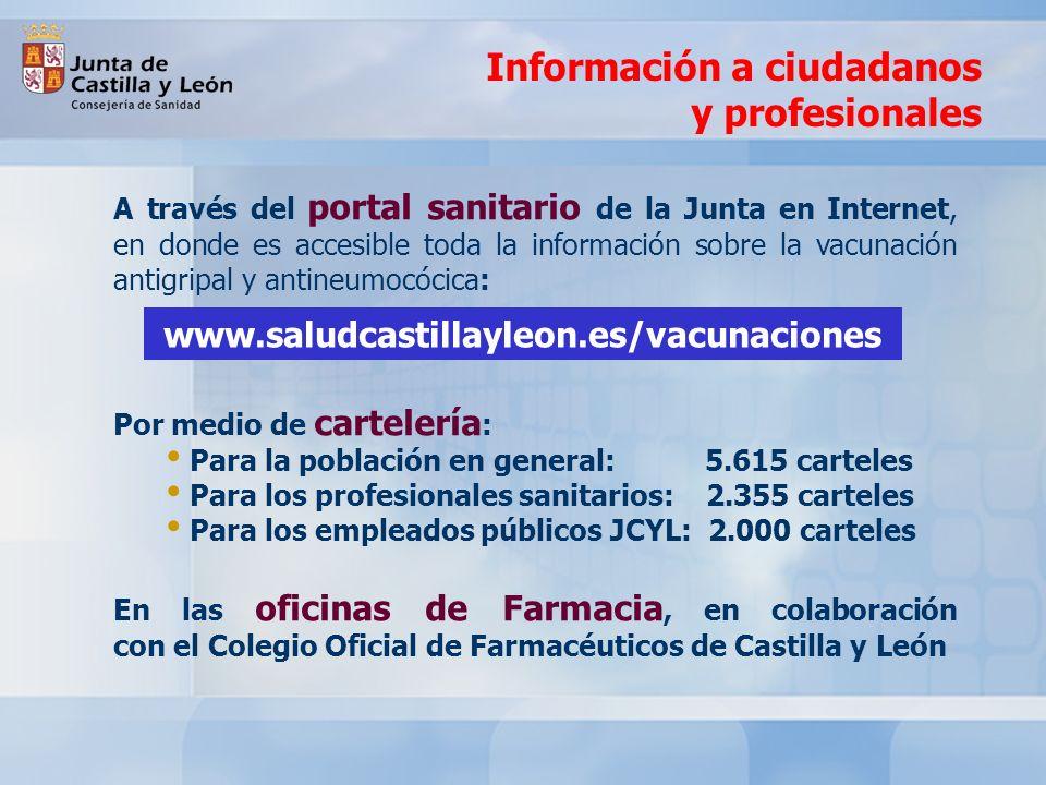 Información a ciudadanos y profesionales
