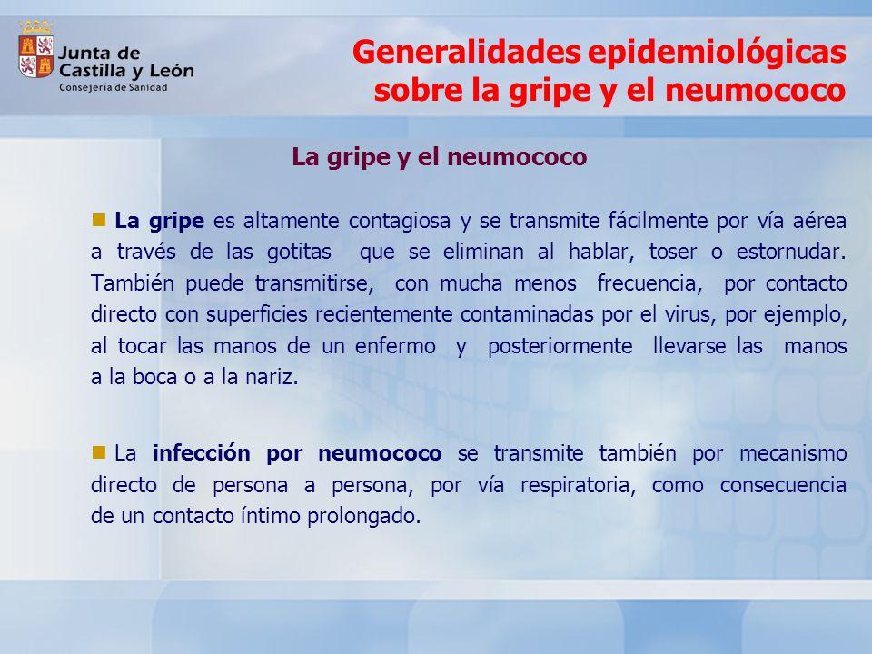 Generalidades epidemiológicas sobre la gripe y el neumococo