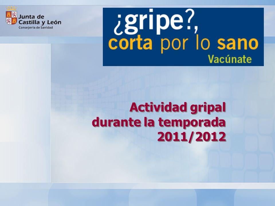 Actividad gripal durante la temporada 2011/2012