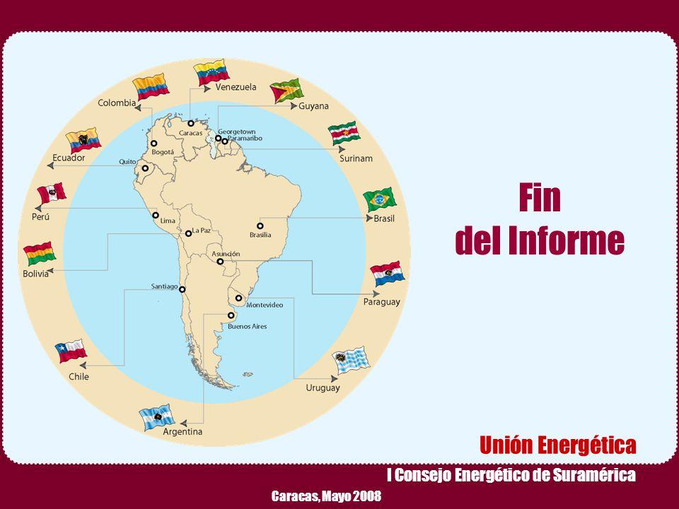 Fin del Informe Unión Energética I Consejo Energético de Suramérica