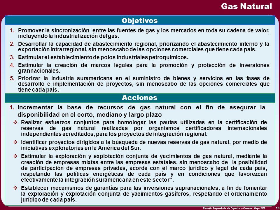 Gas Natural Objetivos Acciones