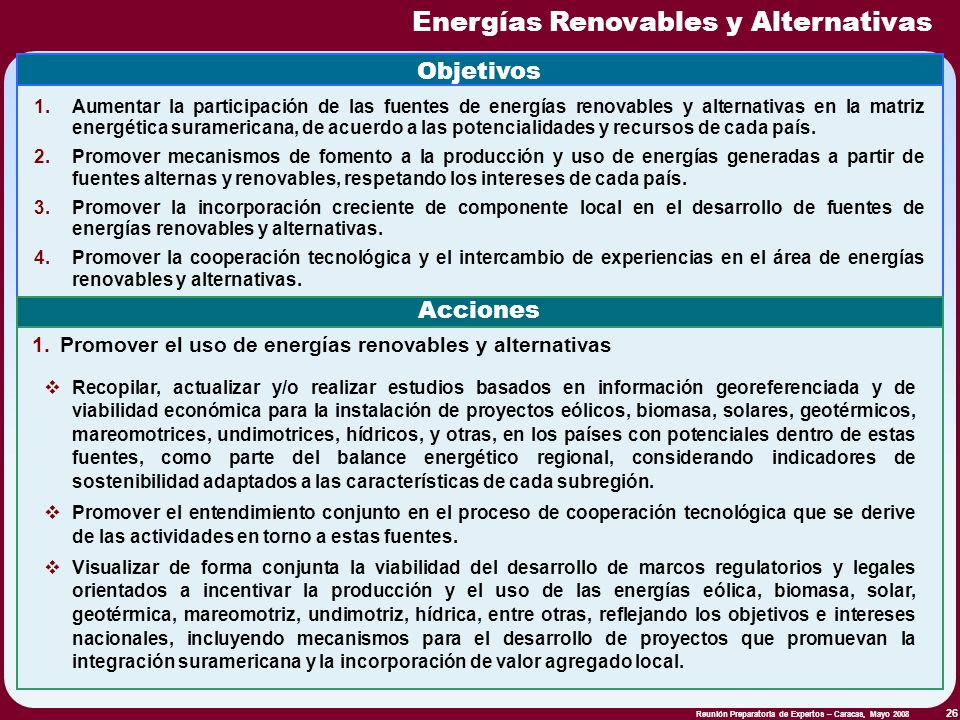 Energías Renovables y Alternativas