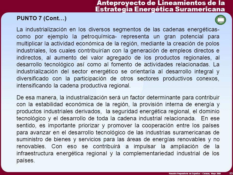 Anteproyecto de Lineamientos de la Estrategia Energética Suramericana