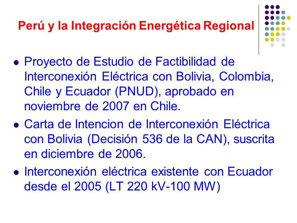 Perú y la Integración Energética Regional