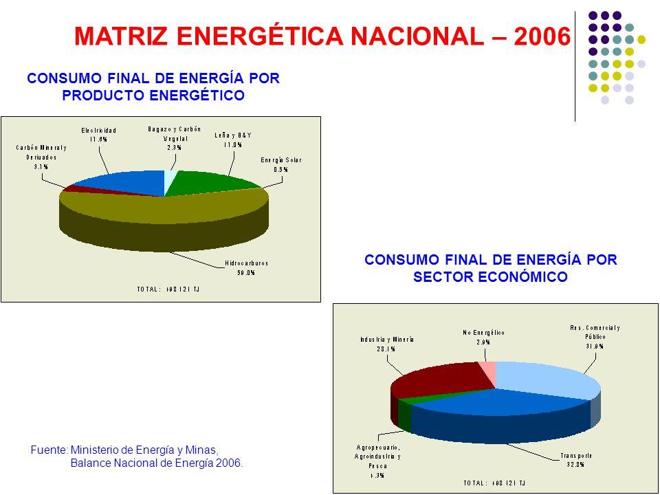 MATRIZ ENERGÉTICA NACIONAL – 2006