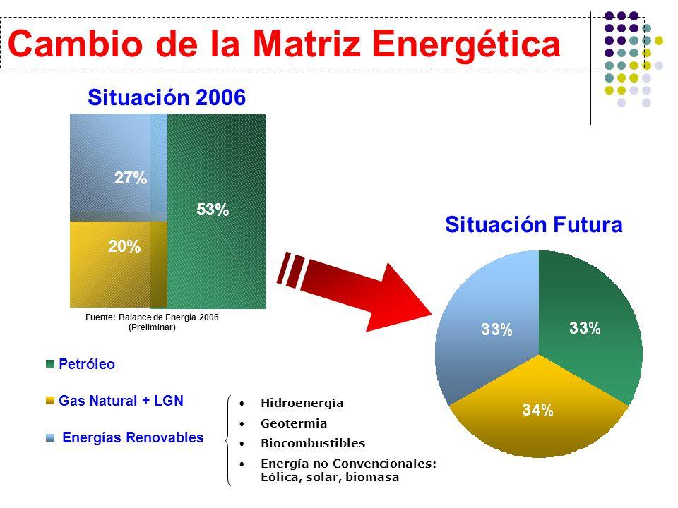 Fuente: Balance de Energía 2006