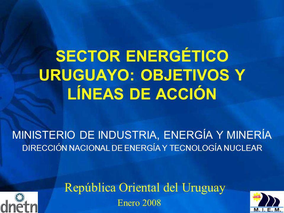 SECTOR ENERGÉTICO URUGUAYO: OBJETIVOS Y LÍNEAS DE ACCIÓN