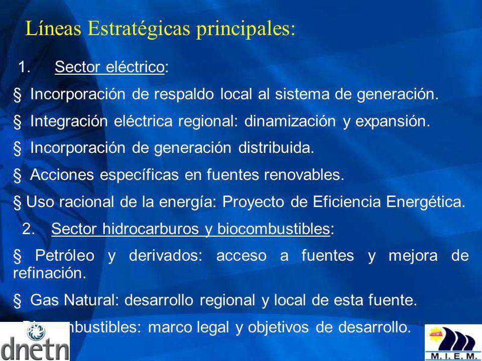 Líneas Estratégicas principales: