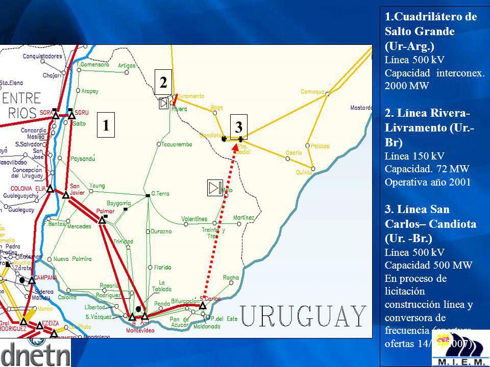 2 1 3 1.Cuadrilátero de Salto Grande (Ur-Arg.)