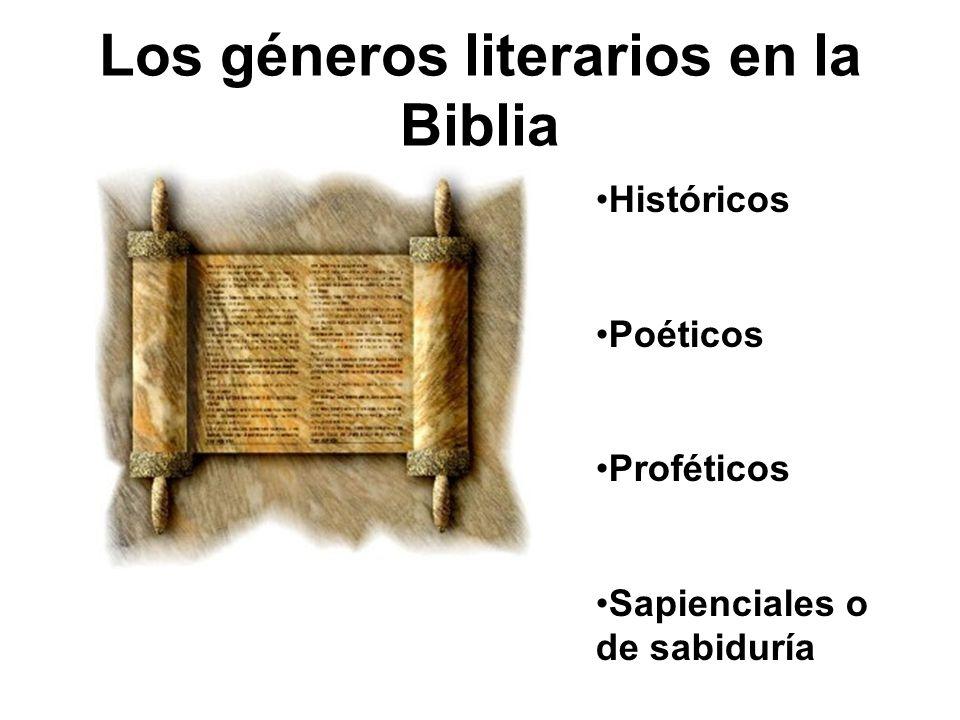 Los géneros literarios en la Biblia