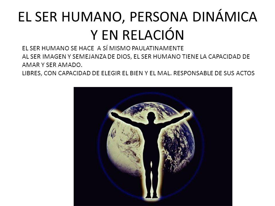EL SER HUMANO, PERSONA DINÁMICA Y EN RELACIÓN