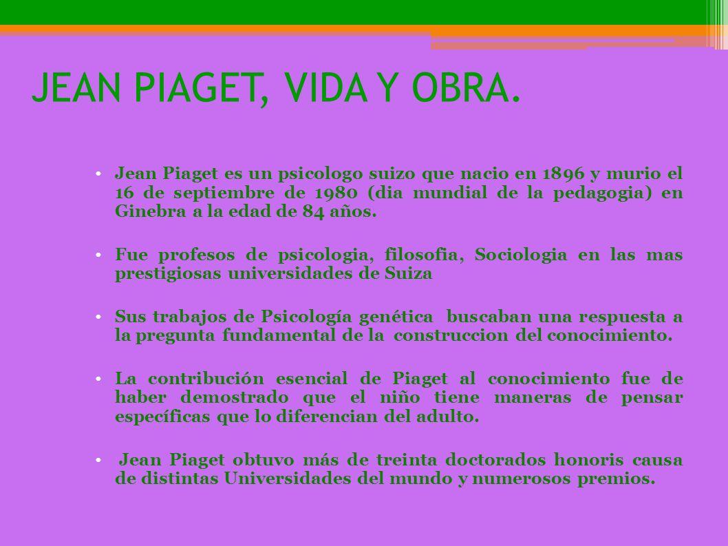 JEAN PIAGET, VIDA Y OBRA.