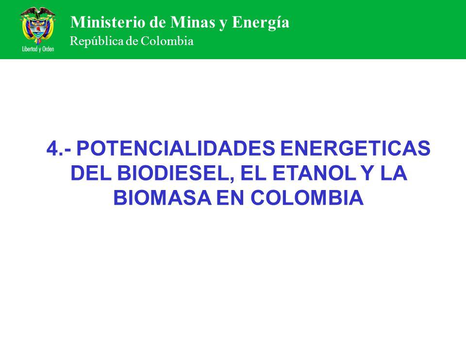 4.- POTENCIALIDADES ENERGETICAS DEL BIODIESEL, EL ETANOL Y LA BIOMASA EN COLOMBIA