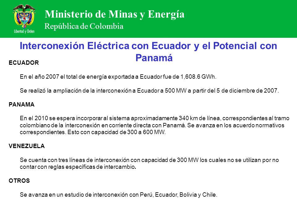 Interconexión Eléctrica con Ecuador y el Potencial con Panamá