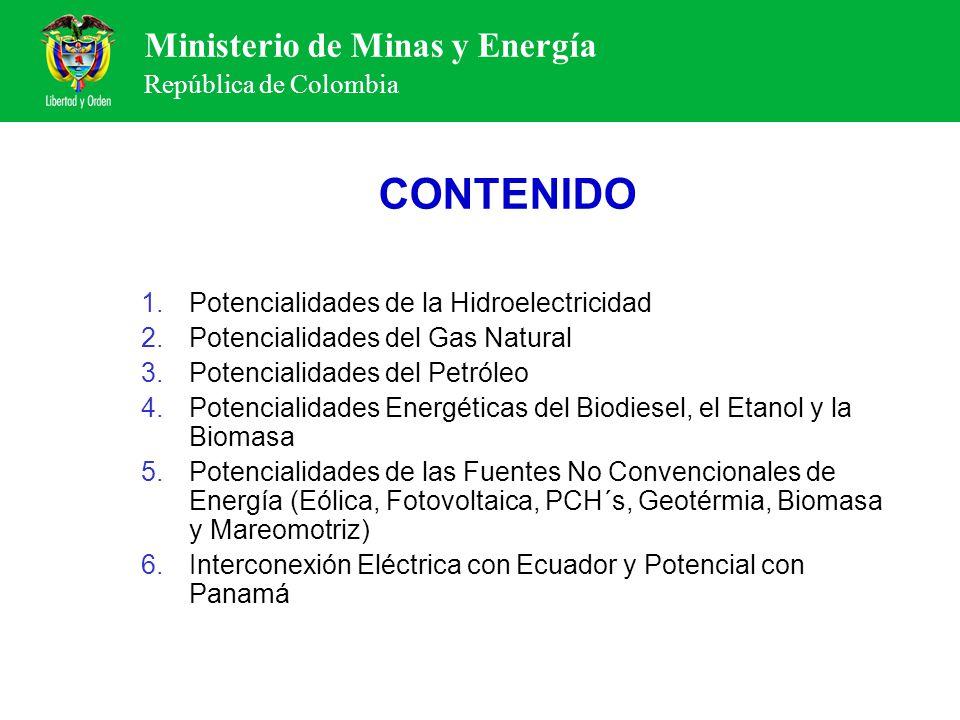 CONTENIDO Potencialidades de la Hidroelectricidad