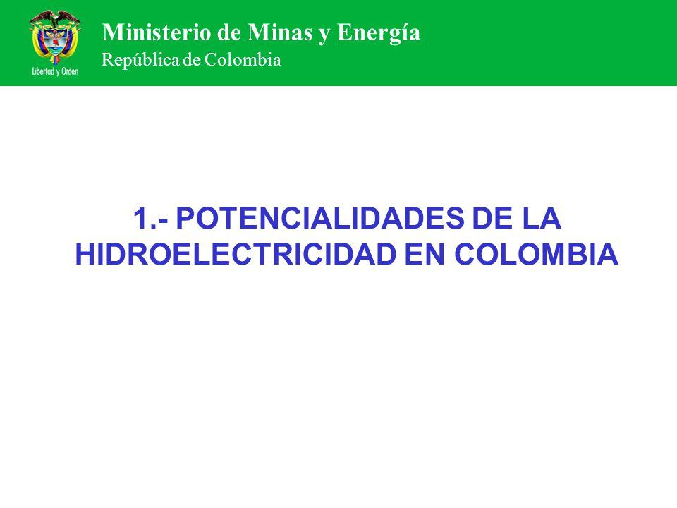 1.- POTENCIALIDADES DE LA HIDROELECTRICIDAD EN COLOMBIA