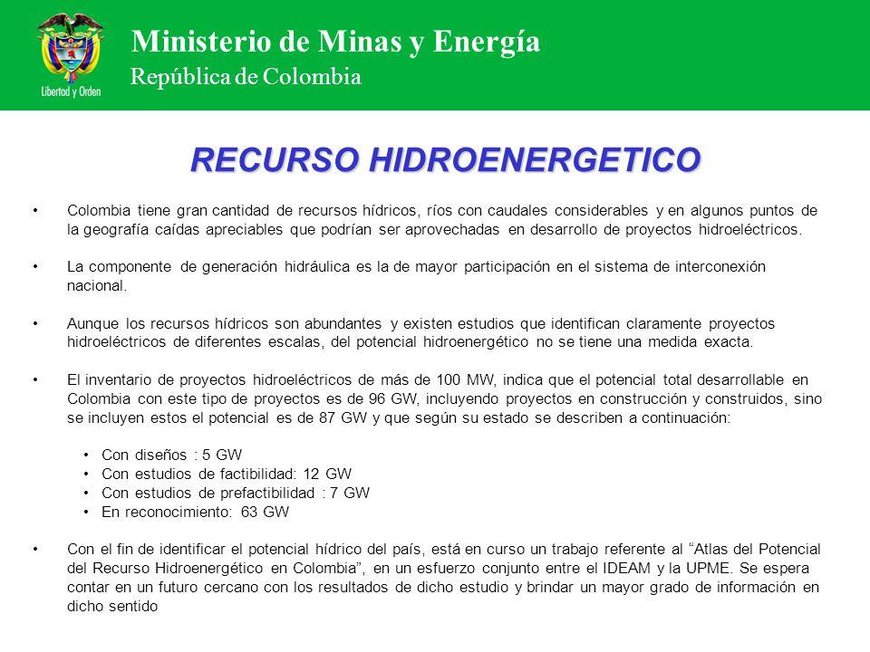 RECURSO HIDROENERGETICO