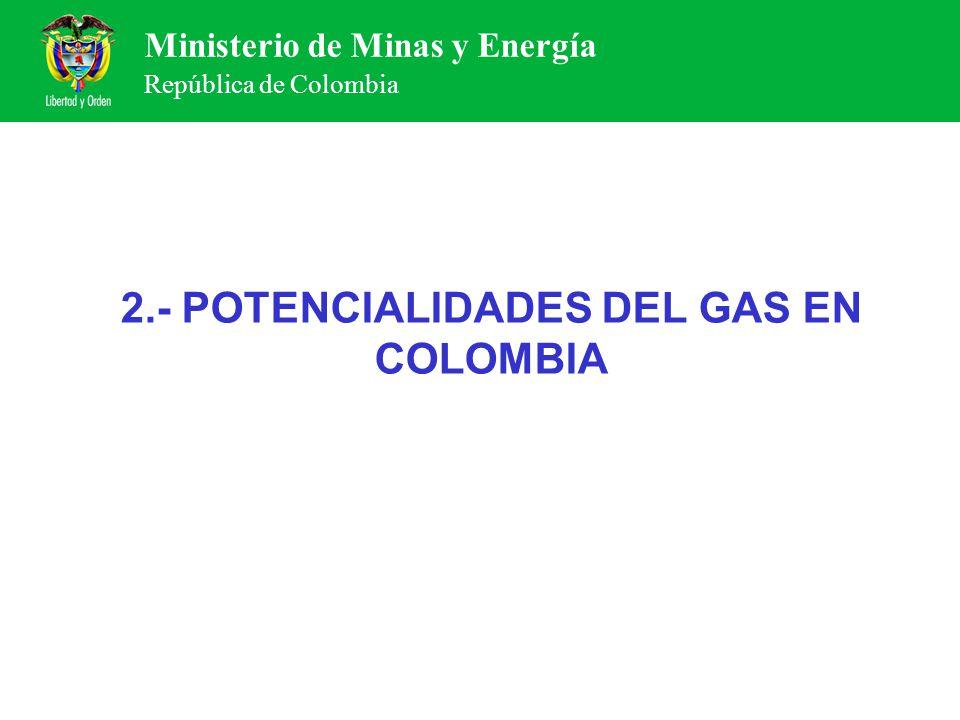 2.- POTENCIALIDADES DEL GAS EN COLOMBIA