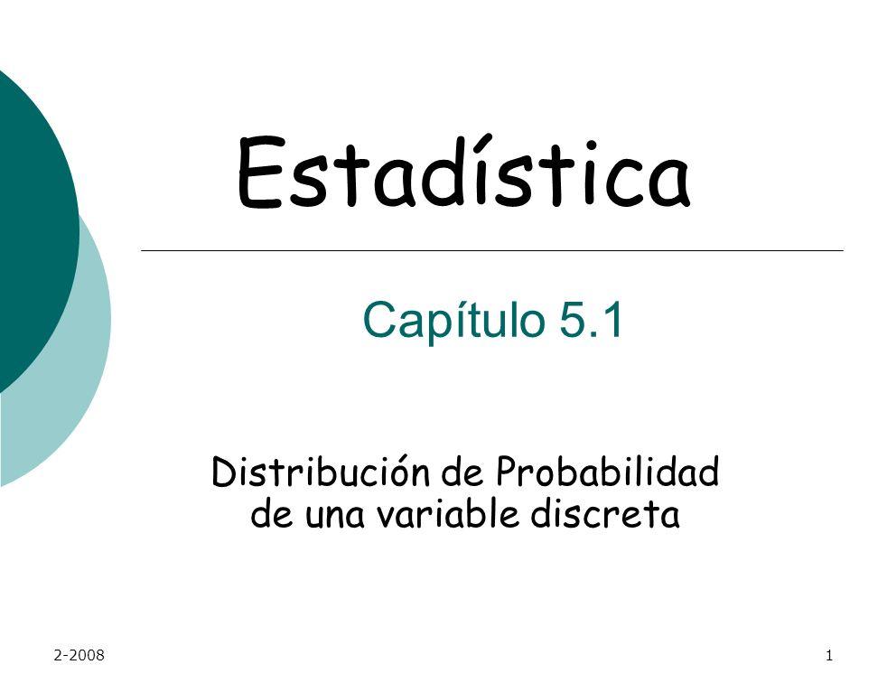 Distribución de Probabilidad de una variable discreta