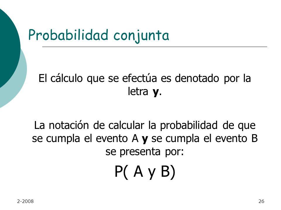 El cálculo que se efectúa es denotado por la letra y.