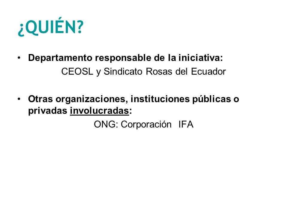 CEOSL y Sindicato Rosas del Ecuador