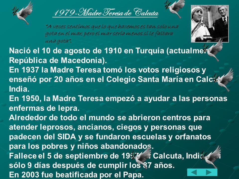1979-Madre Teresa de Calcuta