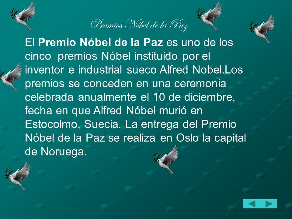 Premios Nóbel de la Paz
