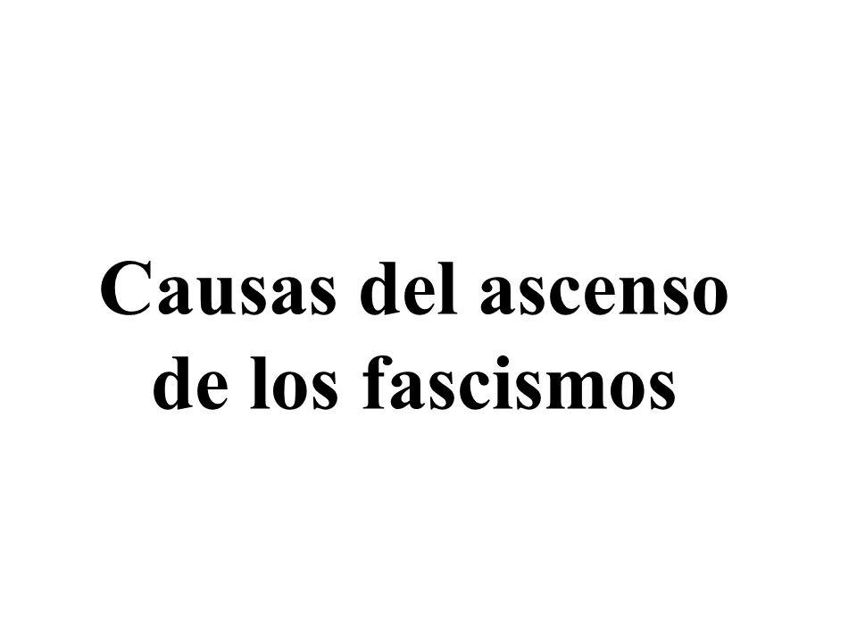 Causas del ascenso de los fascismos