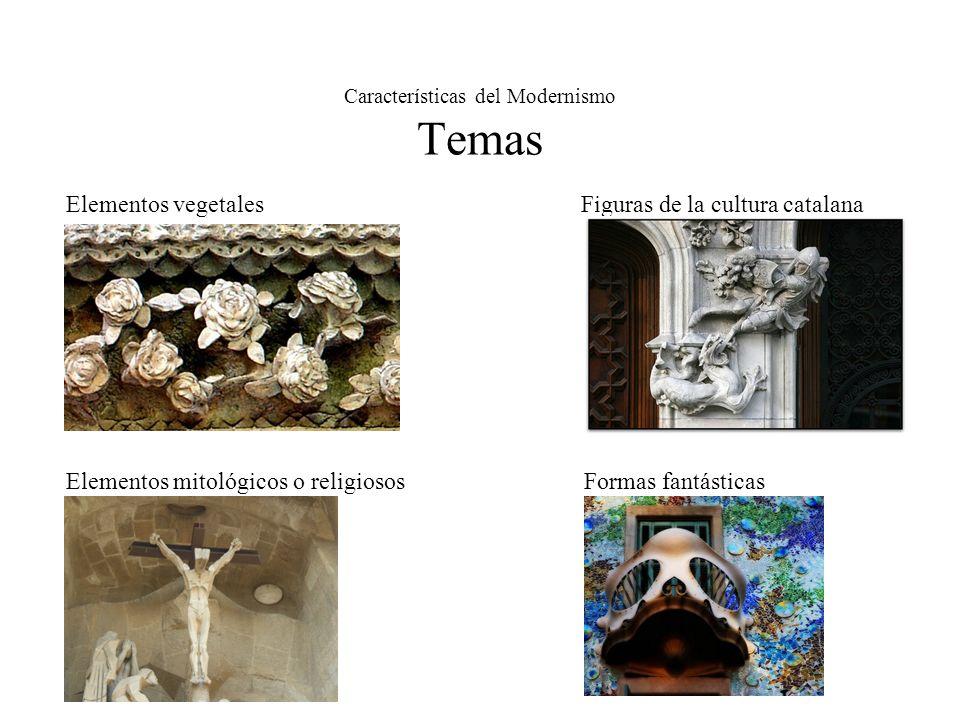 Características del Modernismo Temas