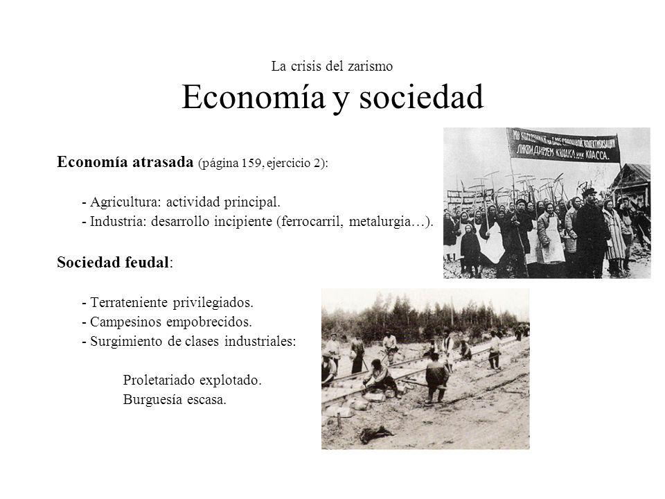 La crisis del zarismo Economía y sociedad