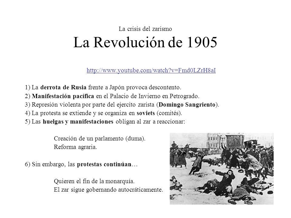 La crisis del zarismo La Revolución de 1905