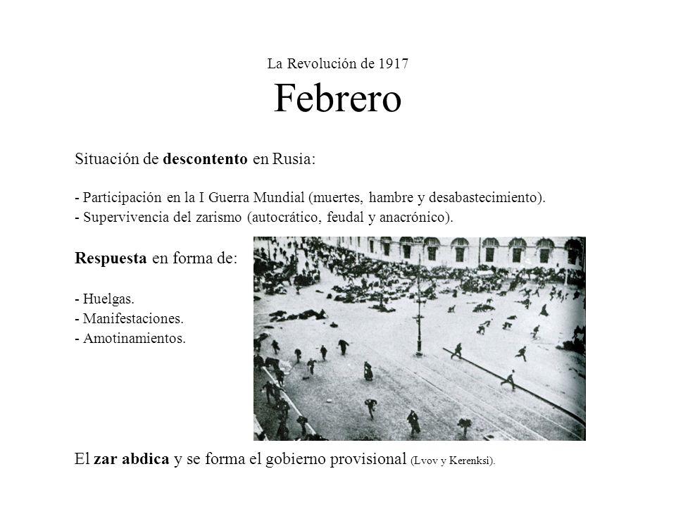 La Revolución de 1917 Febrero