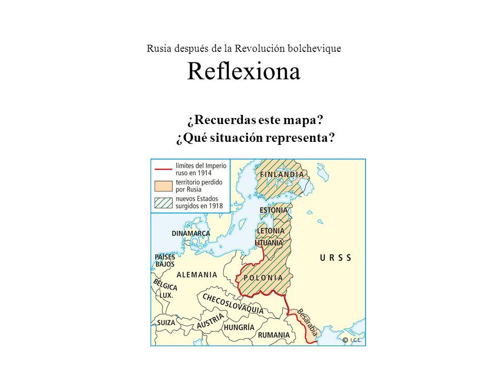 Rusia después de la Revolución bolchevique Reflexiona