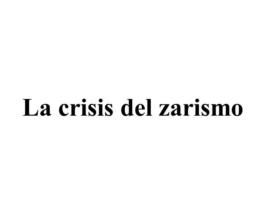 La crisis del zarismo